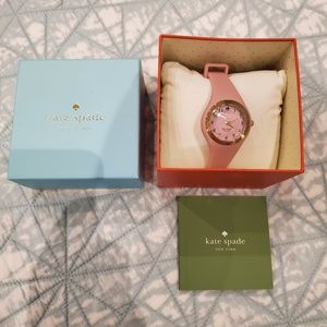 Kate Spade pink rubber watch with box